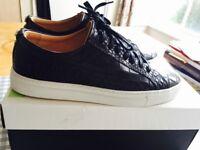 New shoes, KURT GEIGER LONDON, Never wear, Black, Leather Sneakers, UK 9, EU 43.