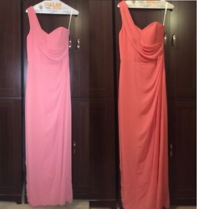DESSY/AFTER SIX – Bridesmaid Dress - Size 8/Coral