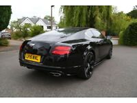 BENTELY CONTINENTAL GT V8S 2015 CONCOURS SERIES BLACK EDITION + MASSAGE SEATS + MULLINER PACK