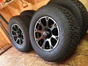 265/70/17 Studded Avalanche Xtreme on Ultra Wheels for RAM 1500
