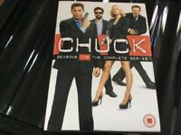 Chuck seasons 1-5 the complete series dvds