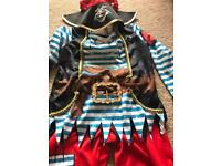 Pirate dressing up costume age 5-6
