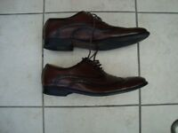BROWN BROGUE DRESS SHOES. SIZE 11. VERY GOOD CONDITION