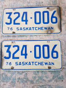 Vintage Pair of Saskatchewan License Plates