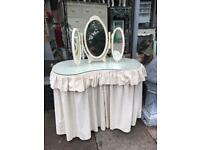 Vintage Kidney Shape Dressing Table & Mirror