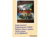 Lego marvel superheroes Spider-Man 76004 spider cycle chase