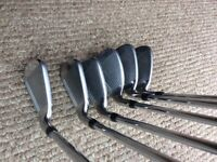 Callaway XR Irons with True Temper SPEEDSTEP 80 Reg Flex Shafts + 2 Hybrids