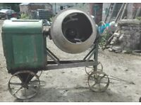 Heavy Duty Cement Mixer For Sale. Petter Diesel Engine With Large Drum. Very Good Condition