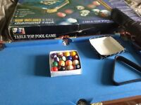 Kids pool table 3ft x 2 ft with balls etc just £15