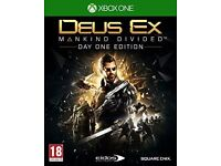 deus ex mankind divided , xbox one , as new ! price stands , no offers !
