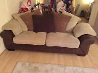 Large 3 seater and 2 seater sofas. Need gone asap
