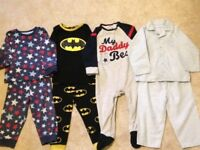 4 boys pajama sets age 12-18months