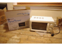 Morrison's Manual Microwave - Boxed nearly new - White