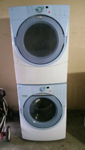 Can deliver/ 27' whirlpool  stackable Washer  &  electric dryer