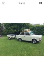 Classic car Trabant with trailer very rare