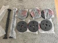 Vinyl dumbbells set
