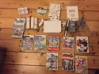 Nintendo Wii console games and accessories in very good condition includes 3 controllers