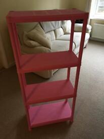 Pink Shelving Unit