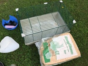 Rabbit/Guinea pig cage and accessories