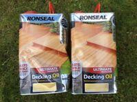 Decking Oil. 5 litre x 2 . Natural Finish