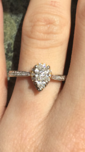 14KT White/Gold Engagement Ring