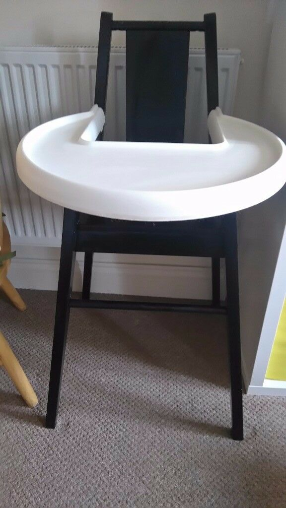 Black and white high chair