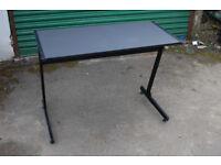small simple black desk