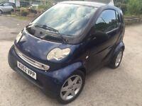 SMART CITY COUPE SEMI AUTO 600CC+8 MONTH MOT+£20 ROAD TAX+FULL VOSA HISTORY