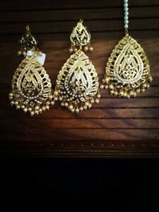 Indian Pakistani jewellery earrings necklace choker rani har