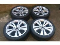 GENUINE 18 VW EOS ALLOY WHEELS GOLF MK6 7 SHARAN PASSAT CC CADDY VAN VW T4 5 X 112 NEW TYRES!