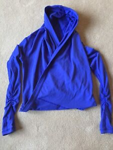 Ivivva Size 12 Purple Cross Over Hooded Pullover