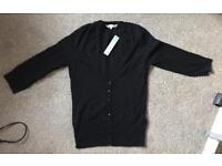 NEW with tags red herring black cardigan