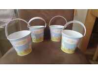 FOUR EASTER BUCKETS SMOKE & PET FREE HOME EASTER EGG HUNT GIFT