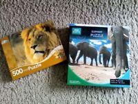 2 Animal 500 Piece Puzzles