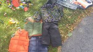 Vests and snow suit