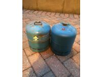 2 Camping Gaz 907 cylinder used empty bottles