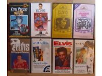 ELVIS PRESLEY,JOB LOT OF 8 (EIGHT) VHS TAPES, TOP CONDITION.SOME ELUSIVE. £ 12.
