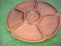 Elegant Wooden Nibbles Serving Tray - Brand New