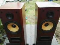 B & W floor standing speakers