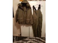 mens waterproof fishing suit never wore large size