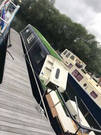 Narrow boat 42ft with mooring, with licence & boat safety cert, £26,000ono (OPEN 2 OFFERS) BOATHOUSE