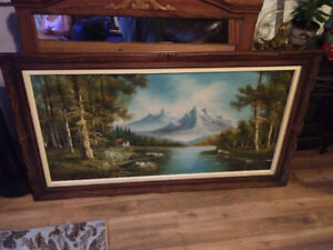 Framed oil painting on canvas signed by artist Lawson