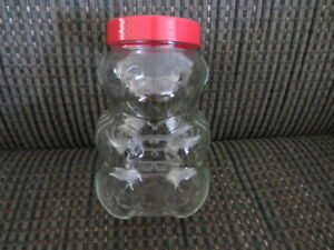 7-Kraft Glass Bear Jars $9.00 each, 1 Stauffer's Bear Jar $7.00$