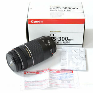 Canon Lens 75-300 USM New in sealed Box