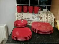 16 piece Swan dinner plates