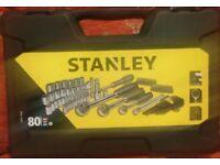 Stanley 80 piece socket tool set (brand new)