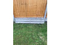 8ft Concrete Posts x 2 & 6ft Concrete Gravel Boards (3 bags post crete Included)