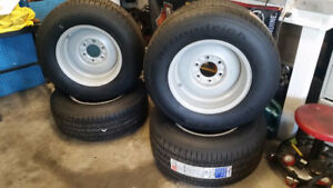 Brand new tires with wheels