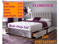 FLORENCE LUXURIOUS VELVET DIVAN BED SET