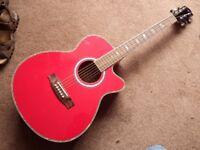 Martin Smith festival electro acoustic Guitar - Red